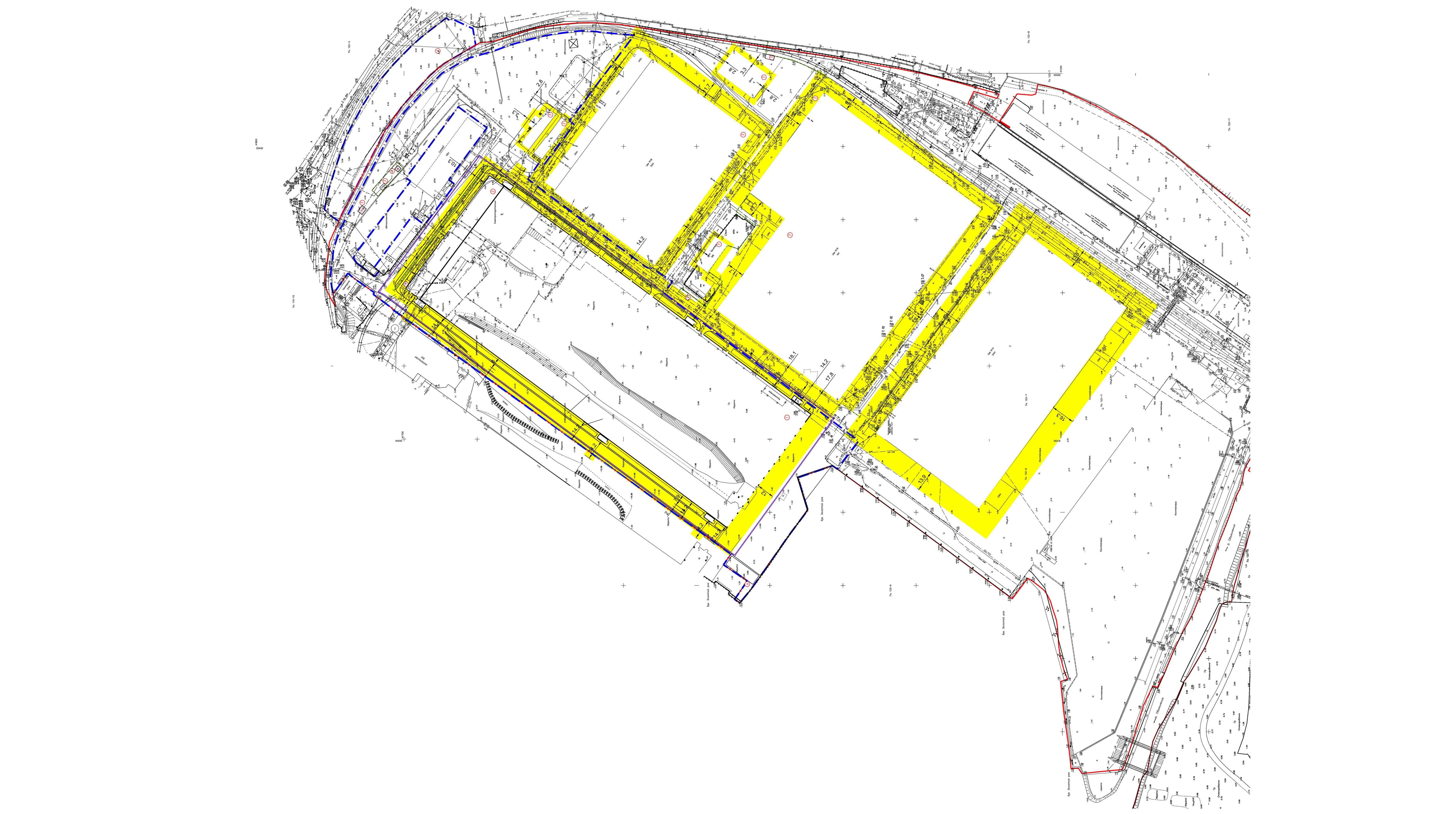 Генплан желтых линий