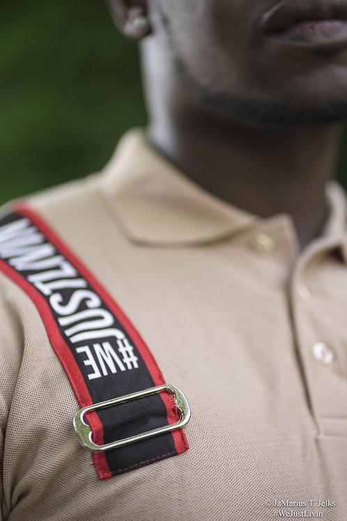 #WeJustLivin Logo Harness - Strap Polo Shirt