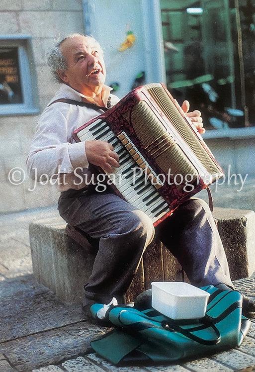 Accordion Player On Ben Yehudah Street