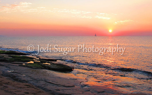 Nahariya Sunset with a Boat