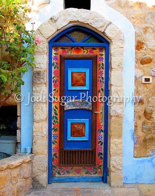 Turquoise Door in Safed