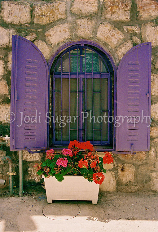 Purple Shutters in Nachlaot, Jerusalem