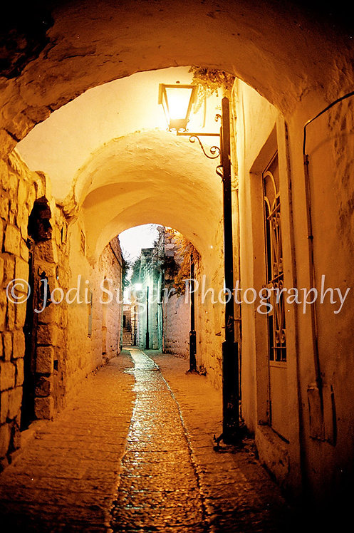 Winter Alley in Safed