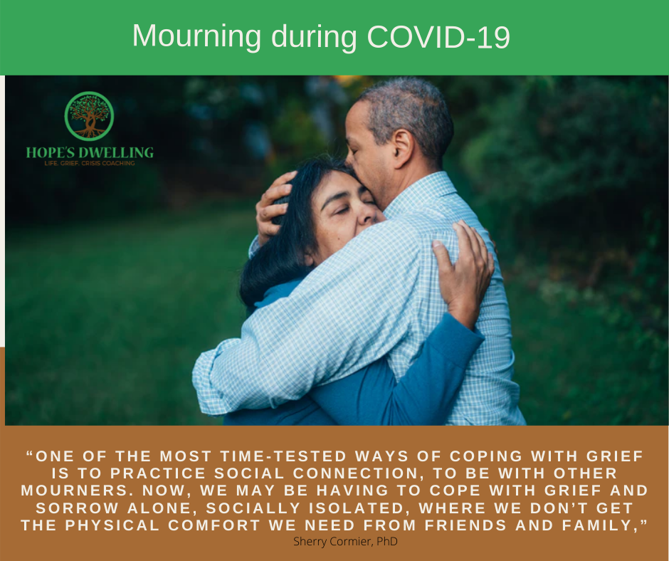 COVID-19 is changing the way we mourn and mark the passing of loved ones.