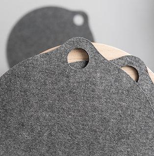 Sitzauflagen aus Wollfilz