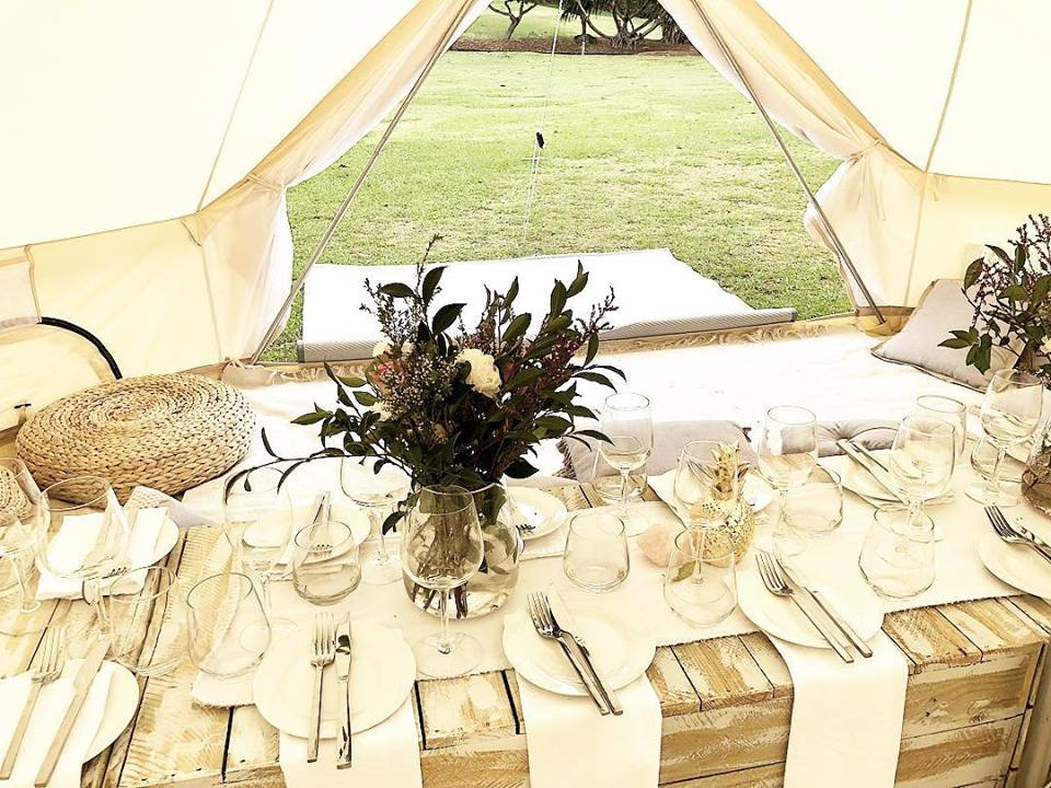 Bell tent in the City
