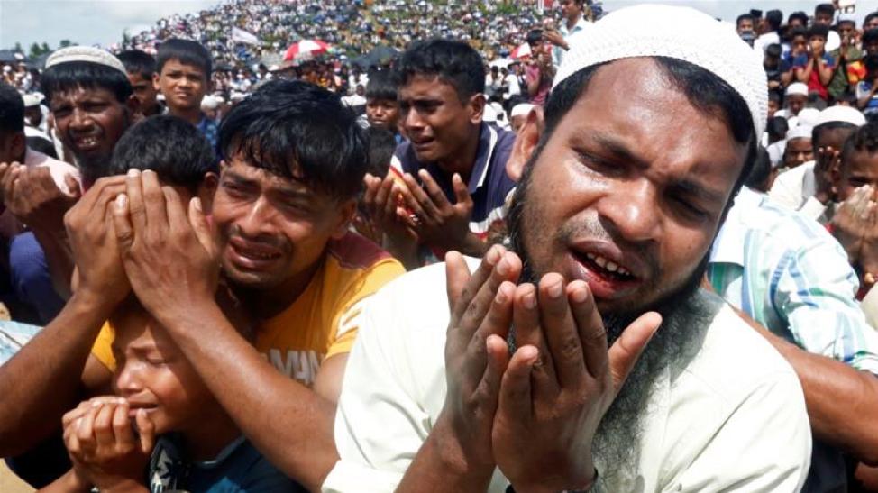 Rohingya refugees in Cox's Bazaar, Bangladesh camp,