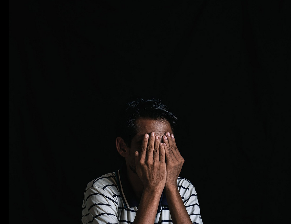 Futhu in the Kutupalong Rohingya refugee camps near Cox's Bazar, Bangladesh. He covered his face for fear of being targeted by the authorities in Myanmar.CreditCreditAdam Dean for The New York Times