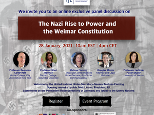 At UN Thursday, 28 January: THE NAZI RISE TO POWER