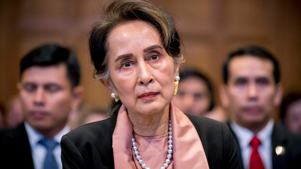 Aung San Suu Kyi at the International Court of Justice December 11, 2019