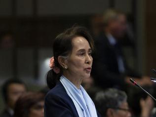 Aung San Suu Kyi defends Myanmar in genocide case