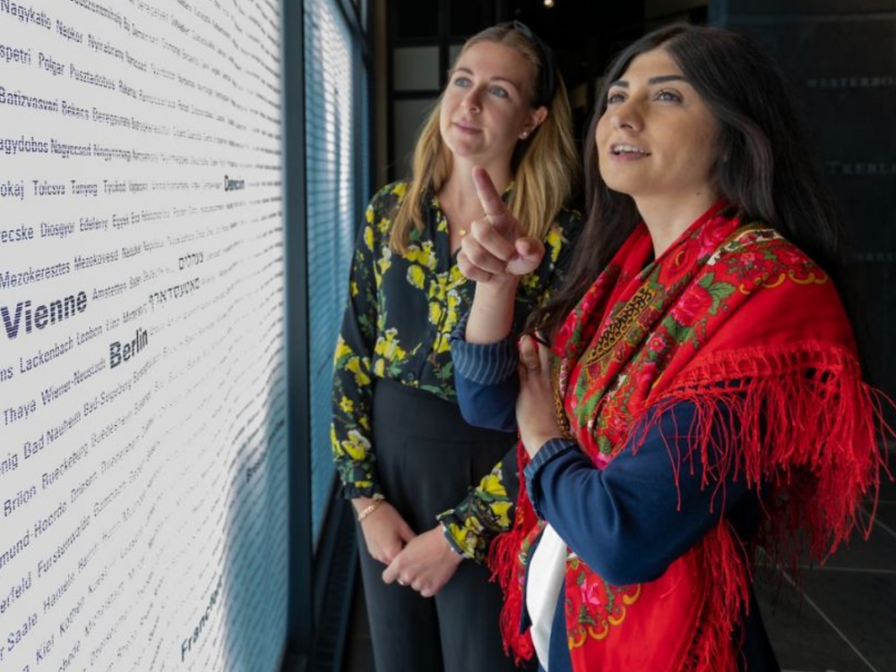 On August 1st, the Montreal Holocaust Museum will hold a commemoration of the genocide that the Nazis perpetrated against the Roma and Sinti during the Second World War. Sarah Fogg, left, and Dafina Savic at the Montreal Holocaust Museum on Monday July 29, 2019. DAVE SIDAWAY / MONTREAL GAZETTE