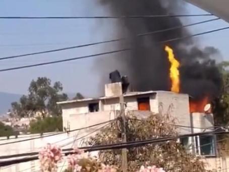 Familia provoca un incendio por preparar carnitas
