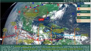 Llegada de una nueva onda tropical a la Península de Yucatán