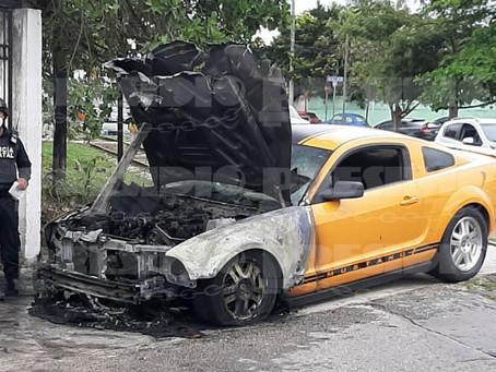 Ex rector de la UTM no llegó a su cita tras incendiarse su auto de lujo