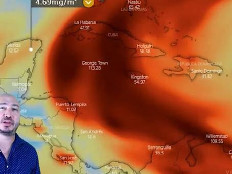 A partir de mañana comenzaría a sentirse en la Península de Yucatán un cúmulo de dióxido de azufre