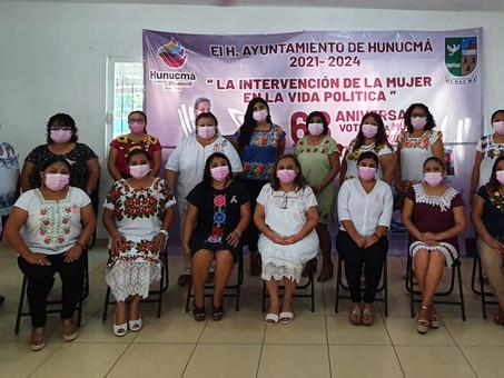 H. Ayuntamiento de Hunucmá celebra el voto  la mujer