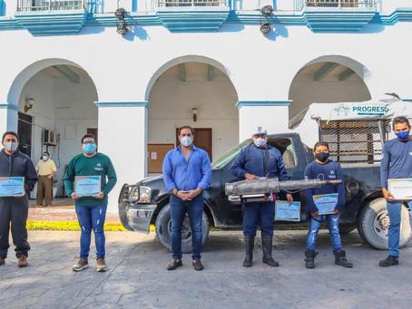 Julián Zacarías reconoce la gran labor de progreseños que integran la cuadrilla de sanitizaciones