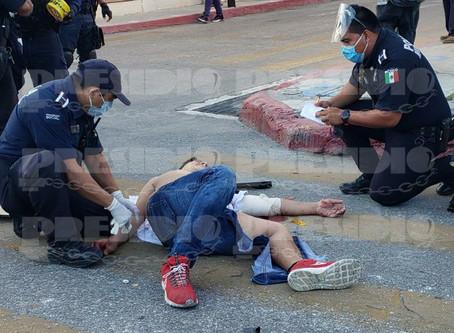 Impacto fracturado; ciclista termina en el hospital