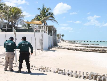 Policía Ecológica refuerza vigilancia y reitera el uso de cubrebocas en zonas del malecón