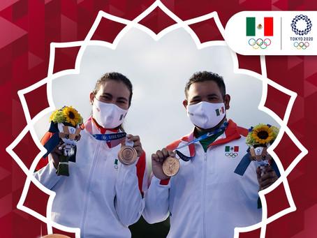 Medalla de Bronce para México: así ganaron Alejandra Valencia y Luis Álvarez en tiro con arco