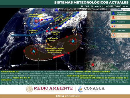 Yucatán: ambiente templado por la mañana y caluroso a muy caluroso durante el día