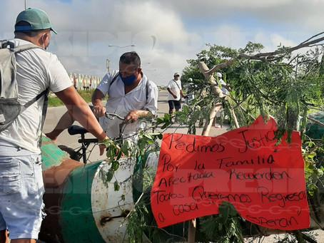 Tras accidente fuerte, vecinos protestan contra constructora y Ayuntamiento de Kanasín