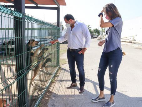 El alcalde Julián Zacarías Curi visita la veterinaria municipal