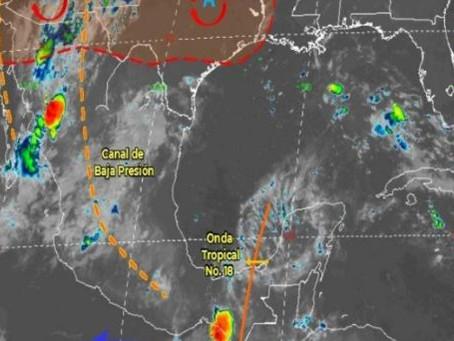 Fuertes lluvias para el sureste de México