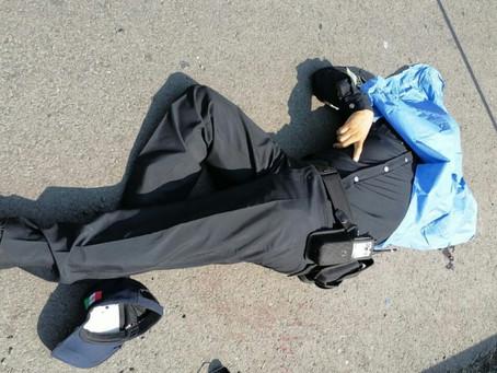 Acribillan a policías y roban sus armas; Juan Manuel murió en el lugar