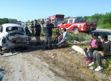 Más de cinco heridos en accidente