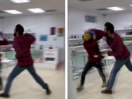 Sujeto golpea a empleado por pedirle que use cubrebocas