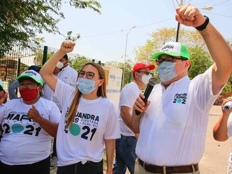 Los primeros apoyos serán para las mujeres del sur: Ramírez Marín