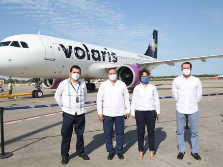 Yucatán, continúa mejorando y recuperando la conectividad aérea internacional