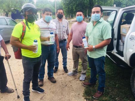 Apoyo a las labores de los hombres del campo en Hunucmá