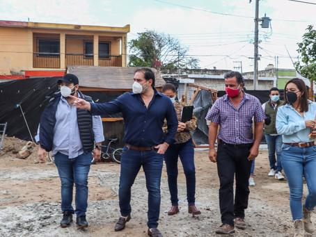 Obras de SEDATU en Progreso se encuentran con buenos avances, afirma el alcalde Julián Zacarías Curi