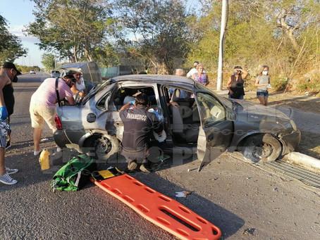 Tres personas lesionadas en Ciudad Caucel; entre ellas una embarazada