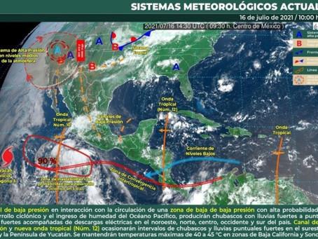 En los siguientes días, el potencial de tormentas se va a incrementar