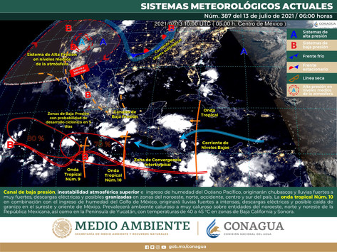 Carga tu paraguas porque habrá cielo nublado por la tarde con lluvias aisladas en Yucatán