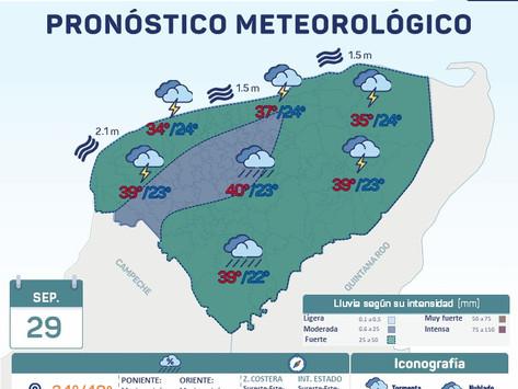 Hoy el Frente Frío No. 4, se esperan lluvias fuertes a muy fuertes en todo el Estado