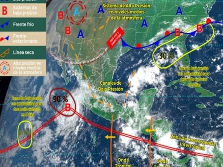 Seguirán las lluvias en la Península de Yucatán