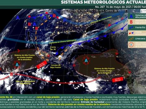 Con probabilidad de chubascos dispersos en Yucatán