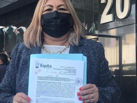 Alcaldesa de Espita denuncia ante la FGR desvío de recursos de la administración 2018-2021