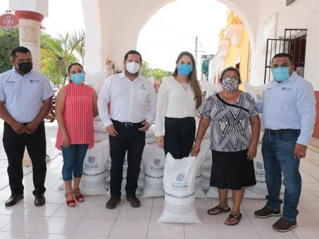Con maíz para consumo, familias yucatecas siguen recibiendo el apoyo del Gobernador Mauricio Vila