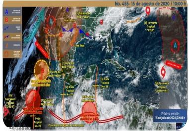 Se prevén chubascos y tormentas fuertes vespertinas por onda tropical No. 28