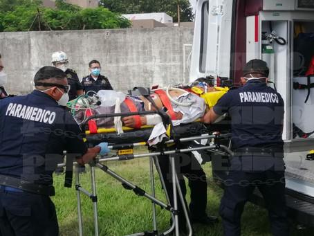 Con traumatismo craneoencefálico es trasladado a Mérida por la vía aérea