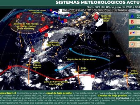 Cielo parcialmente nublado, con probabilidad para lloviznas con chubascos en Yucatán