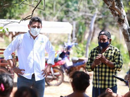 Diego Ávila recorre colonias y comisarías para escuchar a la gente y construir juntos Tekax