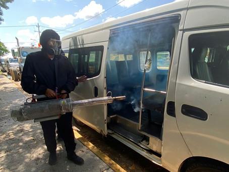 Ayuntamiento de Progreso mantiene las labores de sanitización en diversos espacios