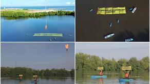 Greenpeace protesta frente a la refinería Dos Bocas; pide medidas ante cambio climático